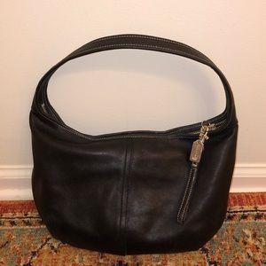 Vintage Coach Hobo Shoulder Bag Soft Black Leather